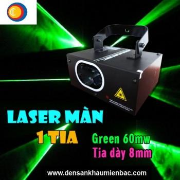 Đèn laser 1 cửa tia green