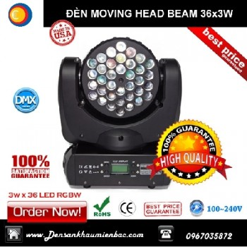 Đèn moving head wash led 36x3w
