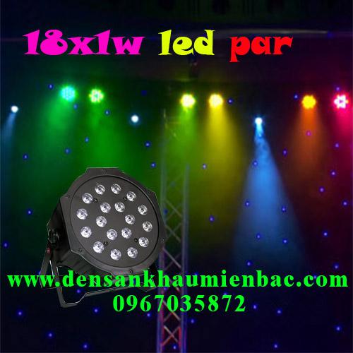Đèn par led 18x1w