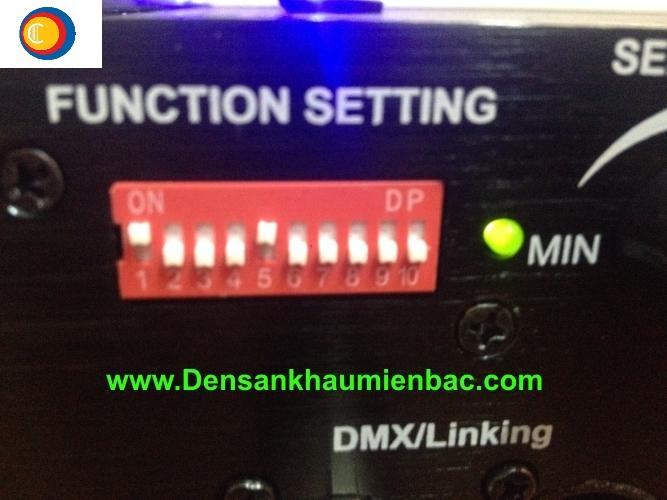 Cài đặt địa chỉ DMX bằng Dip swich
