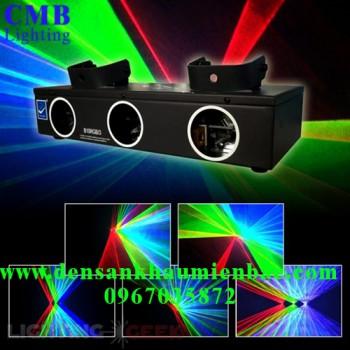 đèn laser 3 cửa 3 màu giá rẻ