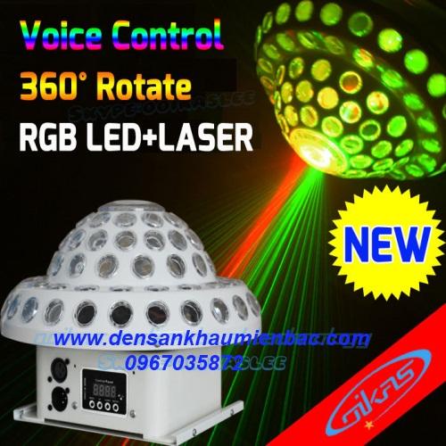 đèn đĩa bay 2 trong 1 laser+led