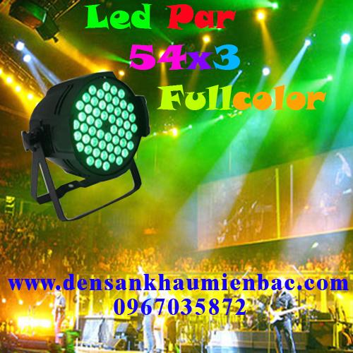 Đèn par led 54x3w fullcolor