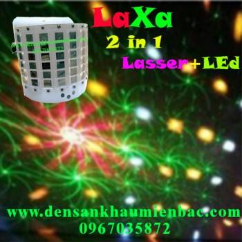 đèn laxa 2 trong 1 laser led