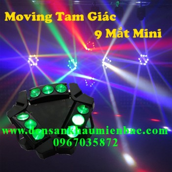 Đèn moving tam giác 9 mắt