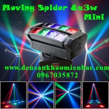Đèn moving spider 8x3w phòng hát karaoke