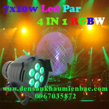 Đèn par led 7x10w 4 in 1 rgbw
