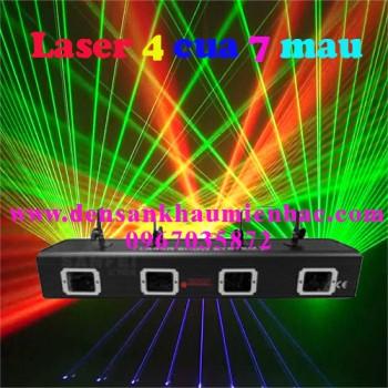 Đèn laser 4 cửa 7 màu