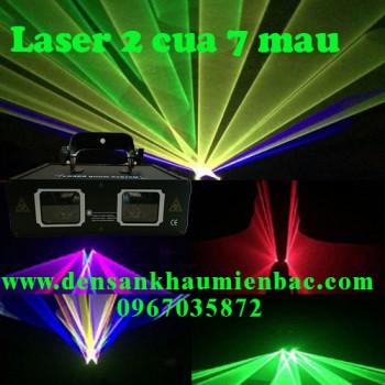 đèn laser 2 cửa 7 màu