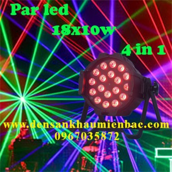 đèn par led 18x10w 4 in 1