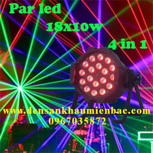 đèn par led 18x10w 4 in 1